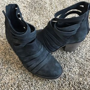 Free People Black Booties Size 37/7